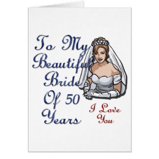 Novia de 50 años tarjeton