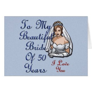 Novia de 50 años tarjeta de felicitación