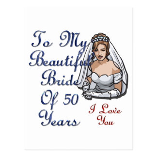 Novia de 50 años postal