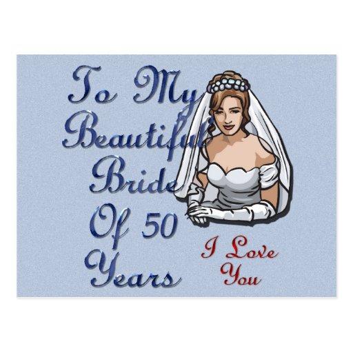 Novia de 50 años tarjeta postal