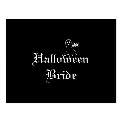 Novia de Halloween con el fantasma