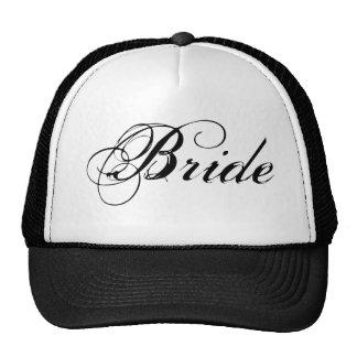Novia de lujo en blanco gorras de camionero