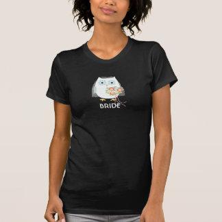 Novia del búho - diseño de la diversión con el camisetas