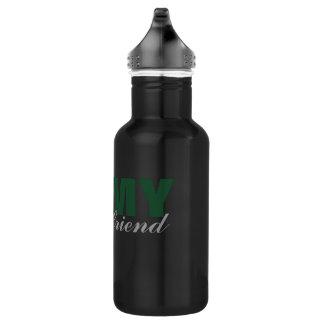Novia del ejército botella de agua