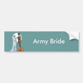 Novia del ejército pegatina para coche
