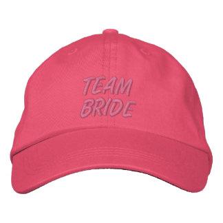 Novia del equipo gorra bordada