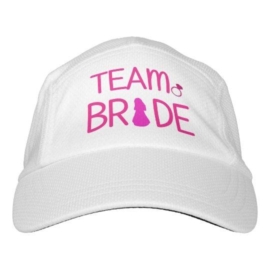 Novia del equipo - gorra del fiesta de gorra de alto rendimiento
