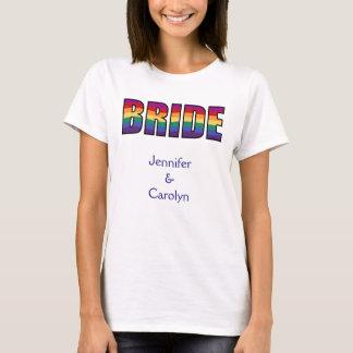 Novia del orgullo gay de LGBT Camiseta