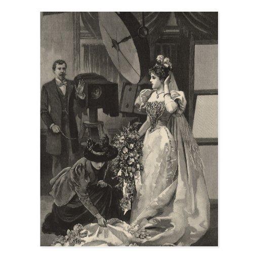 Novia del Victorian del vintage, retrato nupcial Postal