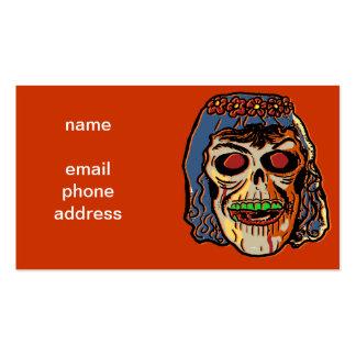 Novia del zombi - máscara de Halloween del vintage Tarjetas De Visita