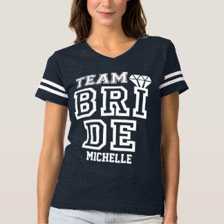 Novia deportiva del equipo camiseta