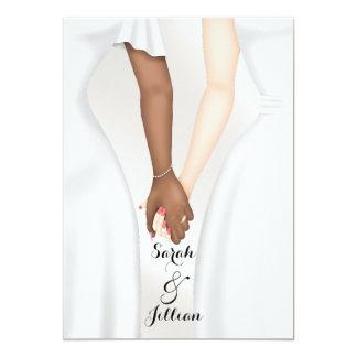 Novia gay elegante del boda que lleva a cabo las invitación 12,7 x 17,8 cm