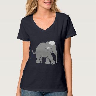 Novia gris preciosa del elefante del vintage camiseta