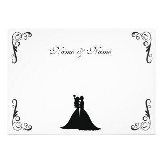 Novia lesbiana y boda blanco y negro de la novia