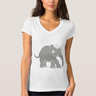 Novia linda preciosa del elefante del vintage camiseta