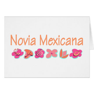 Novia Mexicana Tarjeta De Felicitación