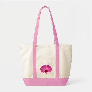 Novia o personalizar rosada del boda para bolsa tela impulso