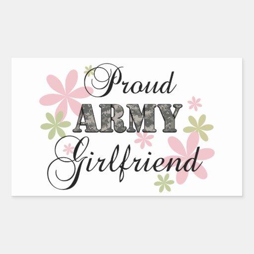 Novia orgullosa del ejército [la Florida c] Rectangular Pegatina