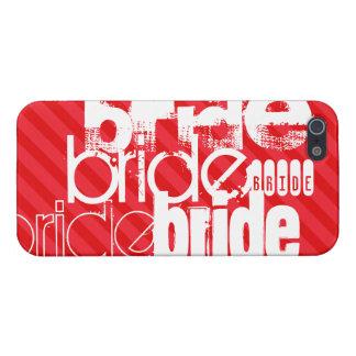 Novia; Rayas del rojo del escarlata iPhone 5 Carcasas