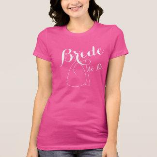 Novia rosada a ser camisetas para mujer de los