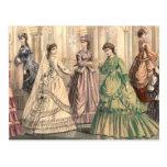 Novia y asistentes del Victorian Tarjetas Postales
