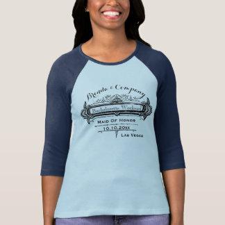 Novia y damas de honor nupciales del diseño del camiseta