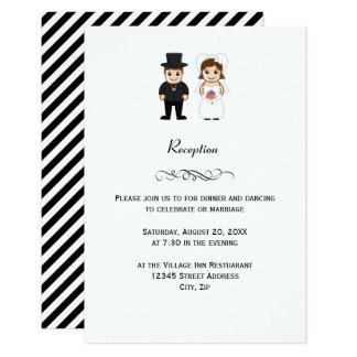 Novia y novio - invitación de la recepción nupcial