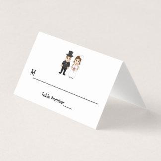 Novia y novio - tarjetas del acompañamiento