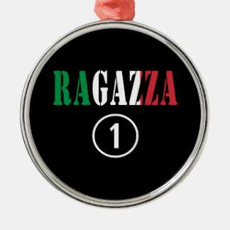 Novias italianas: Uno de Ragazza Numero Adorno Redondo Plateado