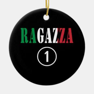 Novias italianas: Uno de Ragazza Numero Adorno Redondo De Cerámica