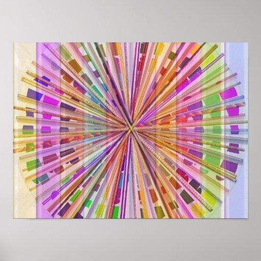 NOVINO Chakra: Colores del arco iris Poster