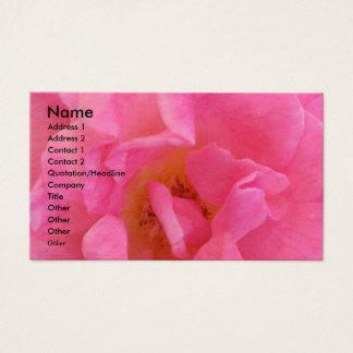 NOVINO - Pétalo rosado sensual 3 Tarjeta De Visita