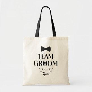 Novio del equipo - bolsos de encargo del regalo de