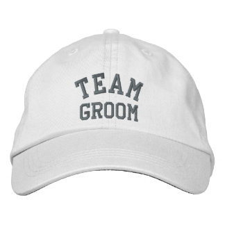 Novio del equipo gorra bordada