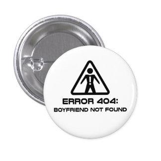 Novio del error 404 no encontrado chapa redonda de 2,5 cm