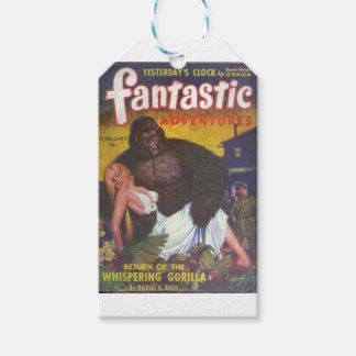 Novio del gorila etiquetas para regalos