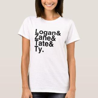 Novio Logan, Zane, Tate, Ty del libro Camiseta