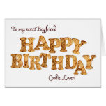 Novio, una tarjeta de cumpleaños para un amante de
