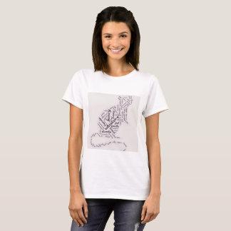 Nube adorable de la palabra de la rata del mascota camiseta