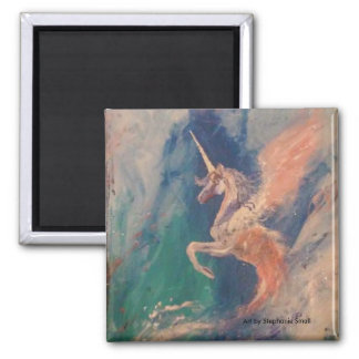 Nube coa alas de Pegaso del unicornio Imán