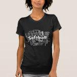 Nube de la palabra del softball camisetas