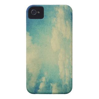 nube del azul del vintage Case-Mate iPhone 4 protectores