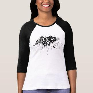 nube floral del grunge camiseta