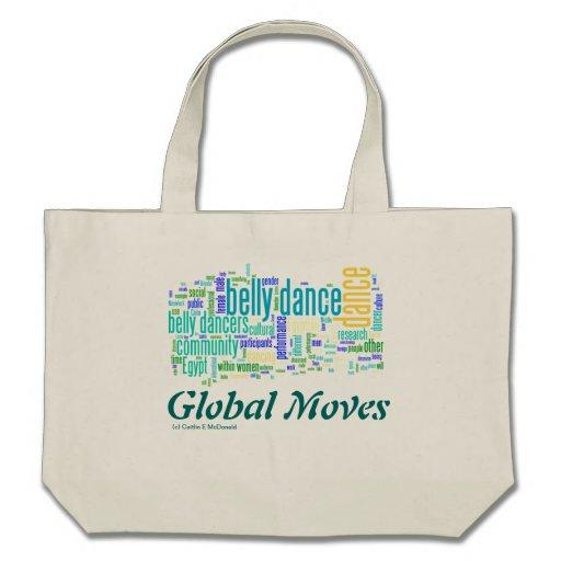 Nube global 1 de la palabra de los movimientos bolsa de mano