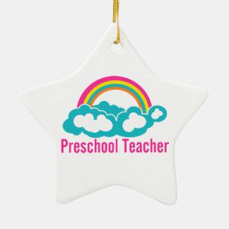 Nube preescolar del arco iris del profesor adorno