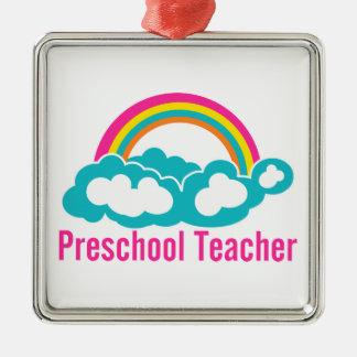 Nube preescolar del arco iris del profesor ornamento de reyes magos
