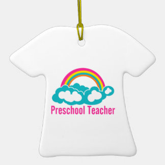 Nube preescolar del arco iris del profesor ornamento para reyes magos