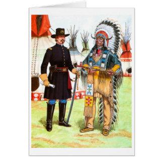 Nube roja, jefe del Oglala Siux Tarjeta De Felicitación