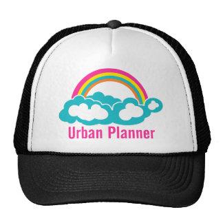 Nube urbana del arco iris del planificador gorras de camionero