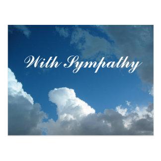 nubes con condolencia postal
